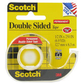 Scotch Permanent Double-Sided Tape - 1/2""